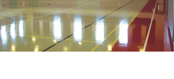 refinished urethane gym floor