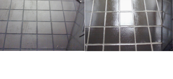 refinished tile before and after